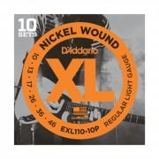 D'Addario EXL110-10P 10-46 Juego de 10 cuerdas Nickel Wound
