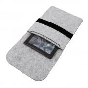Shop4 - 6 inch E-reader Laptop Hoes - Wolvilt Sleeve Grijs