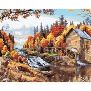 Gaira Malování podle čísel Mlýn v lese M1220