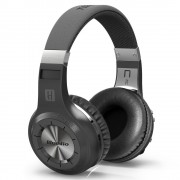Black BLUEDIO H+ Turbine Bluetooth Over-ear Headphone with Mic, Support Micro-SD / FM Radio