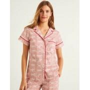 Boden Milchshake, Flaggen Phoebe Kurzärmliges Pyjamaoberteil Damen Boden, 46, Pink