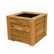 Jardinera de madera de pino tratado en autoclave de 50x50x50 cm. de Madera para terrazas y jardines