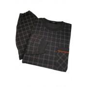 Boris pánská noční košile s čepicí AL.5441.0 tmavě šedá 4XL