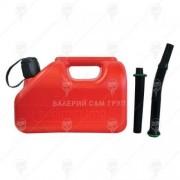 Туба за бензин пластмасова 5л + 2бр. накрайници - Bertani