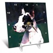 3dRose Perros gran Dane gran Dane relojes de escritorio