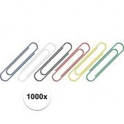 Geen 1000 stuks gekleurde paperclips 26 mm