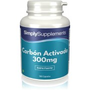Simply Supplements Carbón Activado 300mg - 180 Cápsulas