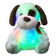 Wewill Brand New Design Glow Puppy Creative Luminious Stuffed Animals Plush Toys Kids Plush Doggie Soft Night Light Colorful Toys, 12 Inch