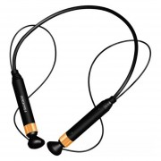 Audífonos Bluetooth Manos Llibres Inalámbricos, FD-600 Auricular Inalámbrico Audifonos Bluetooth Manos Libres Estéreo Anti-perdida Auriculares NFC Deporte (oro Negro)