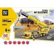 Icom Klocki Blocki Na budowie Dźwig 380 elementów