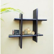 Onlineshoppee Wall Decor Plus style Wooden Wall Shelf/Rack Size (LxBxH-15x4x15) inch