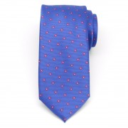 Men classical tie (pattern 1309) 8464 in blue color with dots