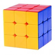 Amazing Super quality perfect performance 3x3x3 Speed Cube Sticker less Smooth Magic Cube Puzzles classic color-matching magic puzzle advanced incorporating anti-pop technology