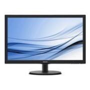 Philips V-line 223V5LHSB - Écran LED - 21.5 - 1920 x 1080 Full HD (1080p) - 250 cd/m² - 1000:1 - 5 ms - HDMI, VGA - noir texturé, ligne de contour noire