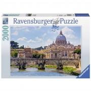 Ravensburger puzzle 2000 pezzi castel sant'angelo roma 16686