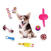 16pcs Dogs Grind Their Teeth And Bite Toys Sound Screaming Chicken Horn Pet Toys