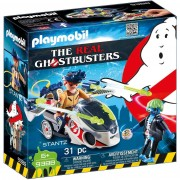 Playmobil the real ghostbusters stantz con moto volante