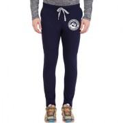 Cliths Men's Navy Slim Fit Zeep Printed Trackpant