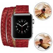 Braçadeira Tecida Elegante para Apple Watch Series 1/2/3 - 42mm - Vermelha