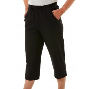 Senior's Choice Black Woven 3/4 Pants - Black 16