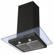 Faber Hood Glassy Plus Bk PB LTW 60 Wall Mounted Chimney(Black 1000)