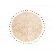 Miliboo Runder Teppich aus natürlicher Baumwolle und Bommeln 135cm TANVI
