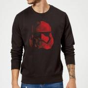 Star Wars Jedi Cubist Trooper Helmet Black Sweatshirt - Black - XL - Black