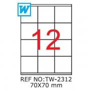 Etichete A4 , 70x70 mm , TW 2312