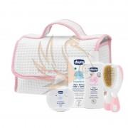 Chicco Kozmetikum táska 5 db-os (Rózsaszín)