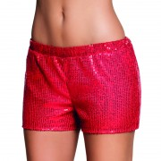 Hotpants sequins rood