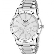 Albireo White Dial Round Shaped with Stainless Steel Strap Strap Fashion Analog Watch for Men's and Boy's AMW-010