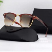 Davidson Shaded Lens Brown Clubmaster Sunglass