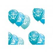 Merkloos 10x stuks Marine/maritiem thema party ballonnen