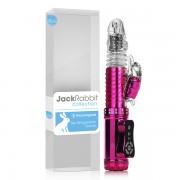 Vibrador Jack Rabbit Pantera Rotativo Vai e Vem Recarregável Rosa