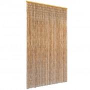 vidaXL Perdea de ușă pentru insecte, bambus, 120x220 cm