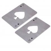 Rvs Bier Opener Flesopeners Poker Speelkaart van Spades Soda Flesopener Bar Gereedschap Keuken accessoires VKTECH