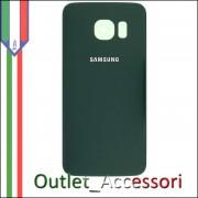 Copribatteria Back Cover Originale Samsung Galaxy S6 Edge Verde Green G925F Vetro