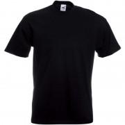 Fruit Of The Loom Set van 2x stuks grote maten basic zwart t-shirts voor heren, maat: 5XL (50/62) - T-shirts