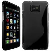 Силиконов гръб ТПУ S-Line за Samsung i9100 Galaxy S2 Черен