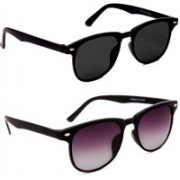 0303 FASHION HUB Retro Square, Retro Square Sunglasses(Black, Violet)