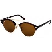 Ray-Ban RB4346 Clubround Double Bridge Sunglasses 990/33