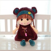 New 45cm Hot Sell Fashion Girl Doll Soft Toy Lovely Figure Stuffed Plush Toy for Girls