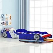 vidaXL детско легло състезателна кола 90 х 200 см, син цвят