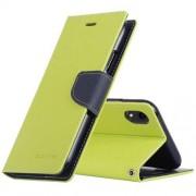 Mercury Pouzdro / kryt pro iPhone XR - Mercury, Fancy Diary Lime/Navy