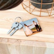 smartphoto Holz Schlüsselanhänger quadratisch
