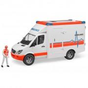 Bruder Ambulanza con Conducente Merceder Benz Sprinter 1:16 02536