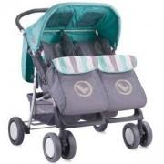 Детска количка за близнаци Lorelli TWIN Grey and Green 2016, 10020071615