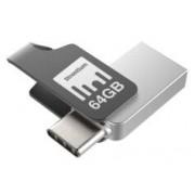 Strontium Clé USB Strontium Nitro Plus avec USB 3.1 + USB C OTG - 64 Go