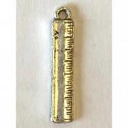 Vonalzó fűzhető fém 2cm ezüst (10db/csomag)