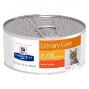 Hill's Prescription Diet c/d Multicare Urinary Care umido per gatti - Set %: 24 x 156 g